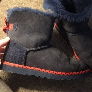 UGG Shoes - Navy and Red Uggs limited edition